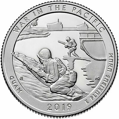 2019 S War In The Pacific Guam Park Clad Proof Quarter - In Hand