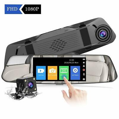 "4.8"" HD FHD 1080p Mirror Mounted Touch Screen Dash Cam & Reverse View Camera Kit"