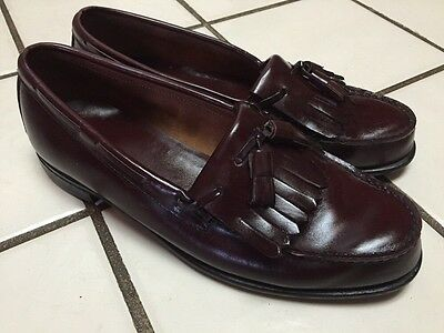 1a70e826c14 DEXTER USA Cordovan Leather Handsewn Kiltie Tassel Loafers Shoes MENS 10 D