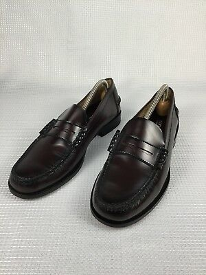 e6533639aea Florsheim Men s Leather Penny Loafers Size 10 Burgundy Casual Slip On Shoes