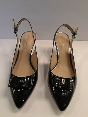 5f61affb47c8 Antonio Melani Size 10M Ophelia Black Leather Pumps Heels Womens Shoes