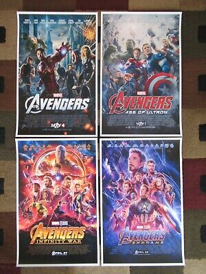 "Avengers - Endgame (11"" x 17"") Movie Collector's  Prints ( Set of 4 )"