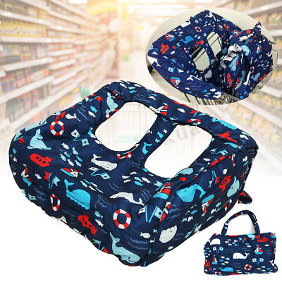 Foldable Baby Kids Child Toddler Shopping Trolley Cart Seat Pad High Chair