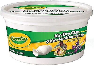 Crayola Air Dry Clay 1.13kg Bucket, White (FAST & FREE SHIPPING)