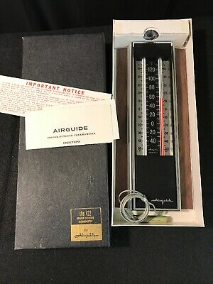 Mid Century Airguide Accent Indoor Outdoor Thermometer Instrument Temperature