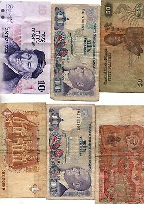 Lot 6 Billets Maghreb Xxe Siecle