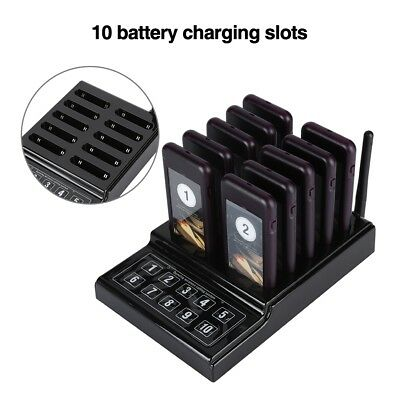 10Pcs Coaster Wireless Pager Calling System for Restaurant, Coffee Shop, Bakery