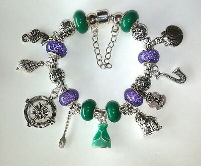 d44abbff4 Disney The Little Mermaid Ariel Theme Charm Bracelet w/Sheet Pandora Gift  Wrap