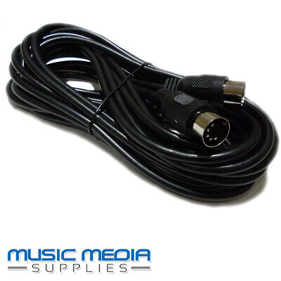 6M 5 Pin Din Midi Lead Cable - Keyboard, Synth, Effects, Quality Lead 6 Metre