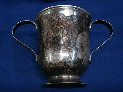 18th Century Sterling Silver Two Handle Cup Mug London 1772/1773