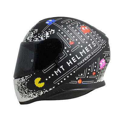 MT Thunder 3 SV ONE  Matt Black / White  Motorcycle Motorbike Helmet Lid