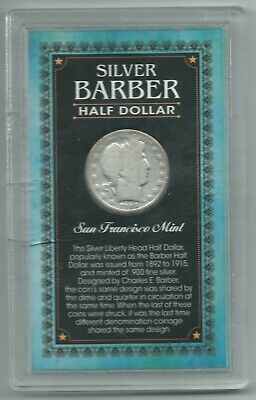 Vintage Good Details 1906 S San Francisco Barber Silver Half Dollar Coin-Mar333