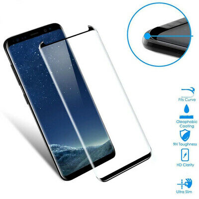 2x 6D Schutzglas für Samsung Galaxy S9 Panzerfolie Full Screen Display Hart Glas