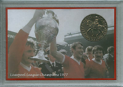 Liverpool LFC Supporter Vintage League Championship Retro Coin Fan Gift Set 1977