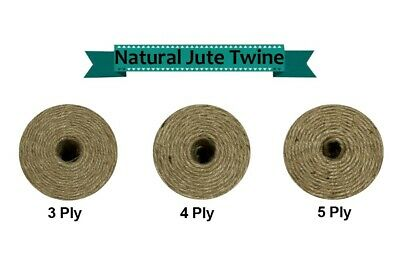 Thick Jute Twine - 10M-80M NATURAL STRING - Sisal Brown Rustic Hessian