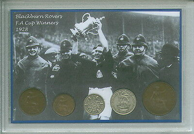 Blackburn Rovers BRFC Vintage F.A Cup Final Winners Coin Display Gift Set 1928