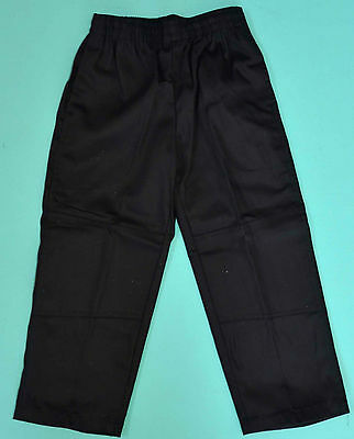 NEW school uniform trousers double knee pants Black size 5 to 16