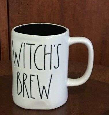 Rae Dunn Witch's Brew Mug Large Letter (black Inside) HALLOWEEN