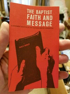 Rare The Baptist Faith And Message Tract Booklet NEW!