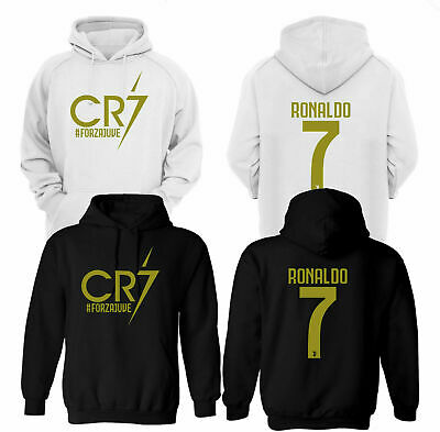 Cristiano Ronaldo Hoodie, Cr7 Juventus Forza Soccer Lovers Gift Top (Gold Print)