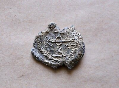 BYZANTINE LARGE LEAD SEAL/ BLEISIEGEL OF OFFICER THEOPHILOS (7th c.)