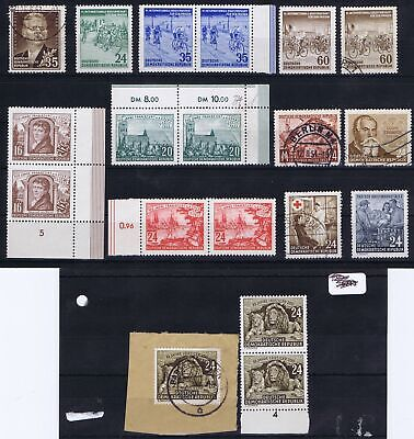 East Germany 1953 Mi 354-360 and others Commemorative Issues used/unused