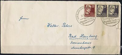 Germany Allied Occ. Soviet Zone 1948 Mi 212, 219 Personalities used on cover