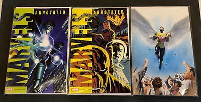 Marvels Annotated #2 1St Print Alex Ross Virgin & Cho Variant Cover Set Nm