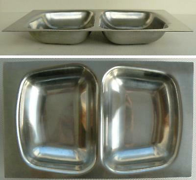 1 Vintage Robert Welch Old Hall Stainless Steel Divided Serving Dish Mid Century