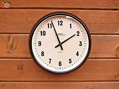 Vintage Smiths Wall Clock, Restored & Updated. Stunning Bakelite, Battery Power.