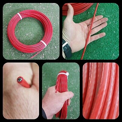Cable Sirga Forrado 6Mm X 70Mts Alambre Correa Canicross Mushing