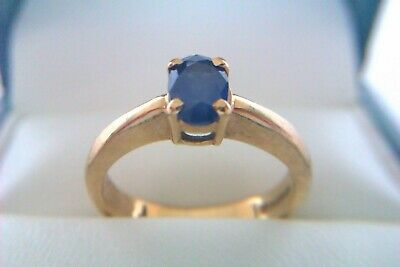 Beautiful Vintage 9ct Gold Sapphire Ladies Ring 12003