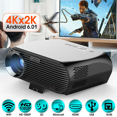 5000 Lumen 1080P Projector HD LED Wifi Home Theater Party Cinema 3D Android Home
