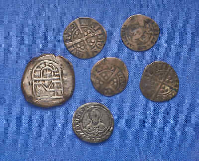 Lot of 6 Medieval Silver Coins. Europe. Rare! No Reserve.