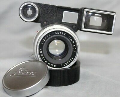 VERY NICE Leica Summicron 35mm f2 8 Element Lens With Goggles