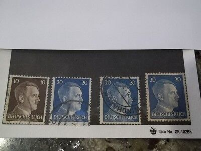 Nazi Germany Third Reich 1941-1944 Hitler stamp lot of 4 WW2 ERA used