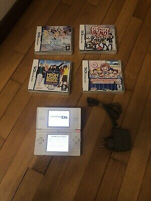 Console Nintendo Ds Lite + 4 Game Original And Working 100%