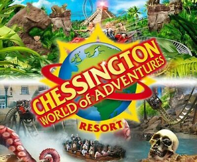 2 x  CHESSINGTON WORLD OF ADVENTURES TICKETS FOR 01/07/2019