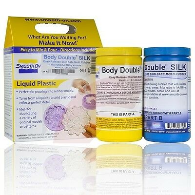 Smooth-On Body Double SILK Life casting Silicone -2 Pints - No release needed!