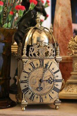 LARGE ENGLISH LANTERN or NELL GWYNN CLOCK with PASSING BELL STRIKE working order