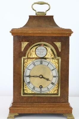 GEORGIAN STYLE BRACKET CLOCK by CHARLES FRODSHAM, LONDON small clock WORKING