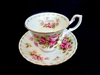 "Royal Albert Bone China Cup&saucer  Flower Of The Month ""june"" Roses"