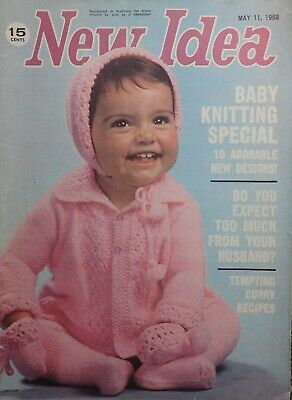 Vintage New Idea Baby Knitting Special Magazine May 1968-Cooking,shor Stories ++