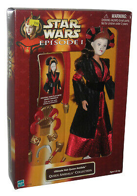 """STAR WARS episode 1 QUEEN AMIDALA ultimate hair 12/"""" DOLL action figure MISP MISB"""