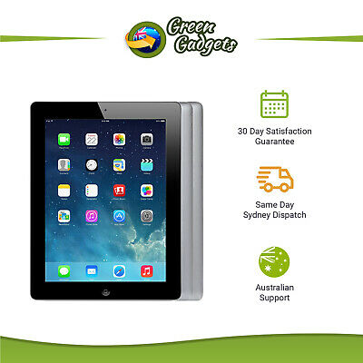 iPad 4th Gen WiFi Only & WiFi + Cellular 16 32 64 128 GB Black White Unlocked