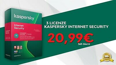Kaspersky Internet Security 2019 3PC Multidevice 365 Giorni / 100% ORIGINALE