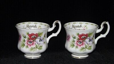Royal Albert flower of the month - MARCH-  ANEMONE 2 cups