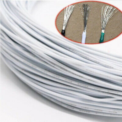 16/18~30AWG White Electronic Wire UL1007 Flexible Stranded Cable Cord Tin Copper