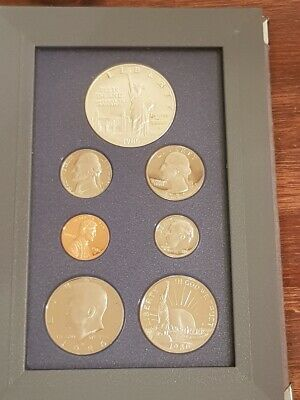 UNITED STATES of AMERICA - 1986 - Beautiful LIBERTY PRESTIGE Proof Coin Set