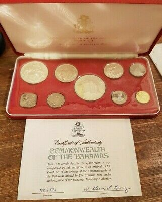 COMMONWEALTH of the BAHAMAS - PROOF COIN SET - 1974